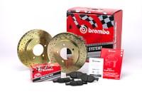 Brembo sada Sport line vrtané kotouče přední + desky DAEWOO Nexia (Racer) -- 1.5i 16V GLX/GTX -- rok výroby 95-> (FD.034.032)