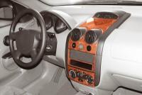 Decor interiéru Daewoo Kalos -- od roku výroby 10/2002- (pro modely s manuální klimatizací nebo bez klimatizace) umístění palubní deska a středová konzola - 6 dílů