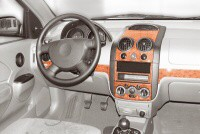 Decor interiéru Daewoo Kalos -- od roku výroby 10/2002- (pro modely s manuální klimatizací nebo bez klimatizace) umístění palubní deska - 10 dílů