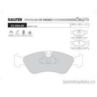 GALFER přední brzdové desky typ FDR 1065 DAEWOO ESPERO 1.8i -- rok výroby 94-99 ( brzdový systém ATE )