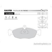 GALFER přední brzdové desky typ FDA 1045 DAEWOO LANOS 1.3i -- rok výroby 97- ( brzdový systém ATE )