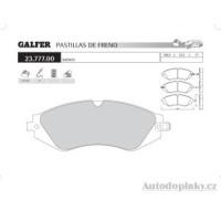 GALFER přední brzdové desky typ FDA 1045 DAEWOO LANOS 1.6i 16V -- rok výroby 97- ( brzdový systém AKE )
