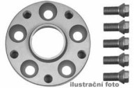 HR podložky pod kola (1pár) DAEWOO Espero rozteč 100mm 4 otvory stř.náboj 56,6mm -šířka 1podložky 25mm /sada obsahuje montážní materiál (šrouby, matice)